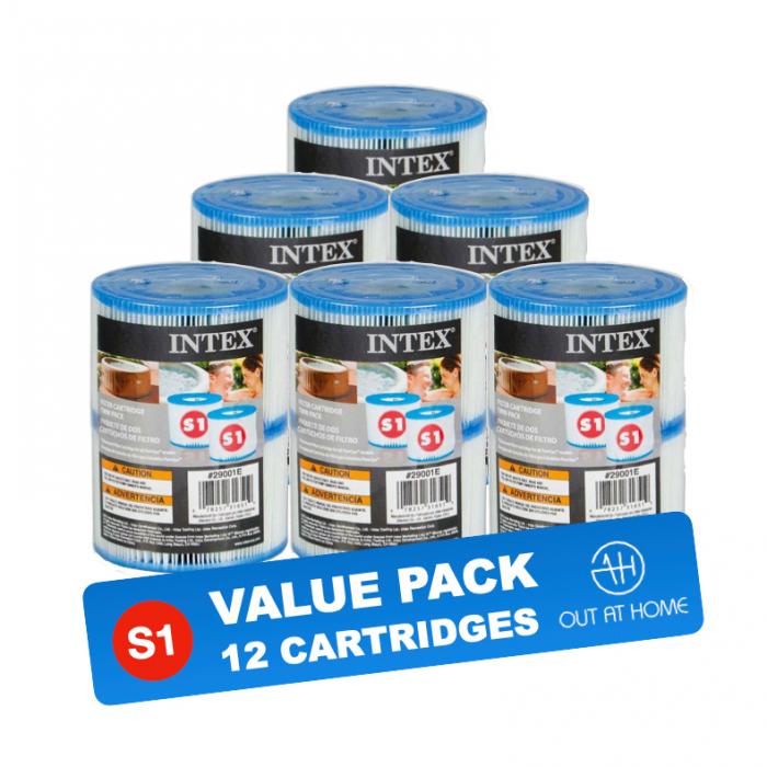 PACK DE VALEUR 12 pcs. Cartouche filtrante Type S1 pour Intex PureSpa