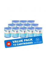 PACK DE VALEUR 12 pcs. Cartouche filtrante Intex Type H