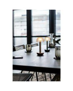 Lampe LED Humble Two (verre dépoli doré)