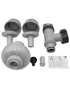 """LARGE POOL 1-1/2"""" (38MM) INLET AND OUTLET FITTINGS SET FOR PUMP W/ SYSTEM FLOW RATE 1900-2500GPH  (IO)"""