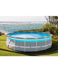 Intex Clearview Prism Frame Premium piscine Ø 488cm, pompe et échelle incluse