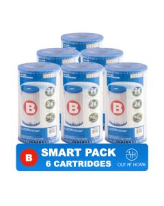 SMART PACK 6 st. Intex Filter Cartridge Type B