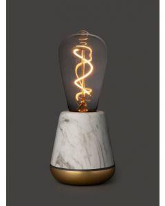 Lampe LED Humble One (marbre blanc)