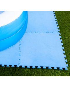 Carreaux de sol 50 x 50 x 0,4 cm bleu (8 pièces)